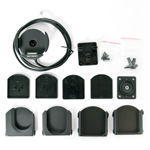 Автомобільний тримач зарядний пристрій з адаптерами для iPhone iPod Dension