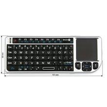 Беспроводная мини клавиатура с тачпадом серебристая  - Краткое описание