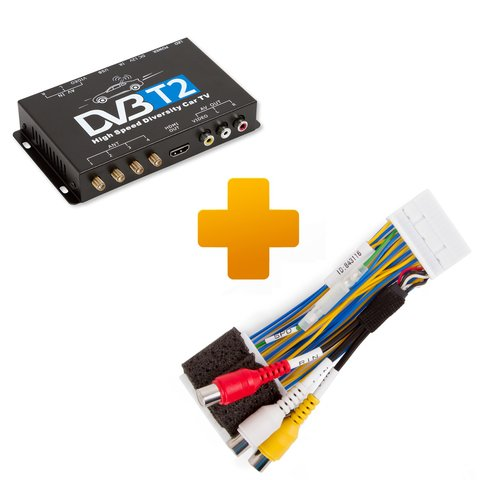 DVB T2 TV Receiver and Connection Cable Kit for Toyota Touch 2 Entune Monitors
