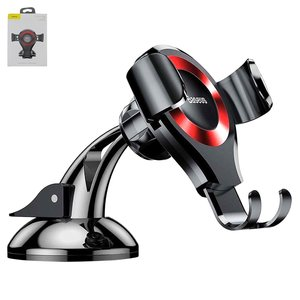 Car Holder Baseus, (red, black, suction cup, magnetic) #SUYL-XP09
