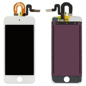 Pantalla LCD para reproductor MP3 Apple iPod Touch 5G, blanco, con cristal táctil