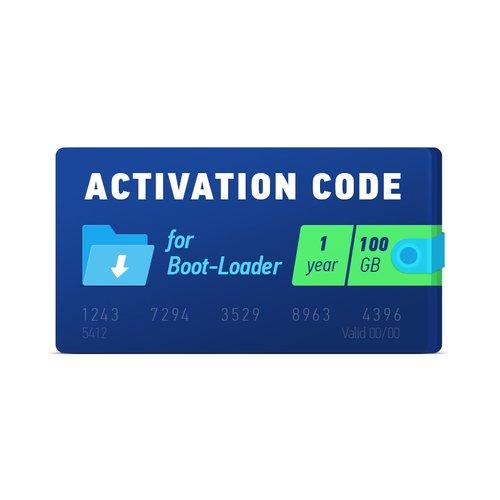 Boot-Loader 2.0 Código de activación (1 año, 100 GB)