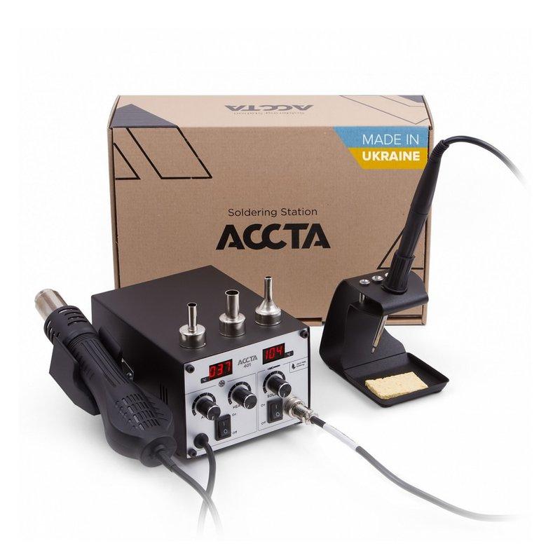 Термоповітряна паяльна станція Accta 401 Зображення 1
