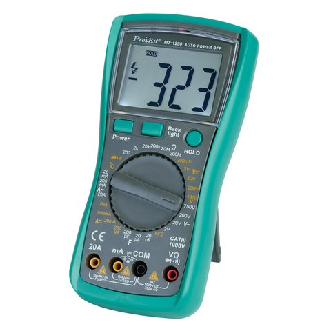 Профессиональный цифровой мультиметр Pro'sKit MT-1280