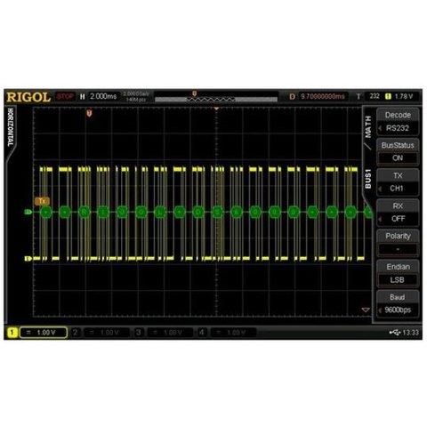 Програмне розширення RIGOL SD RS232 DS6 для декодування RS232 UART