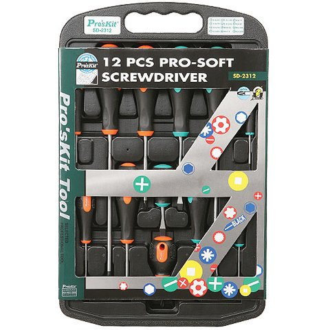 Pro soft Screwdriver Pro'sKit SD 2312 12 PCS