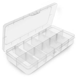 Caja para almacenamiento de las piezas pequeñas Pro'sKit 203-132F (O.D.:260x115x43.5 mm)