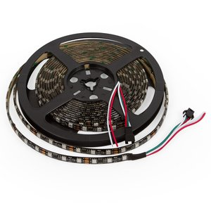 RGB LED Strip SMD5050, WS2811 (black, with controls, IP65, 12 V, 60 LEDs/m, 5 m)